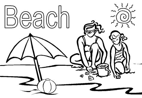printable coloring pages beach free printable beach coloring pages for kids