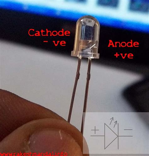 led anode cathode identify the anode cathode of led s