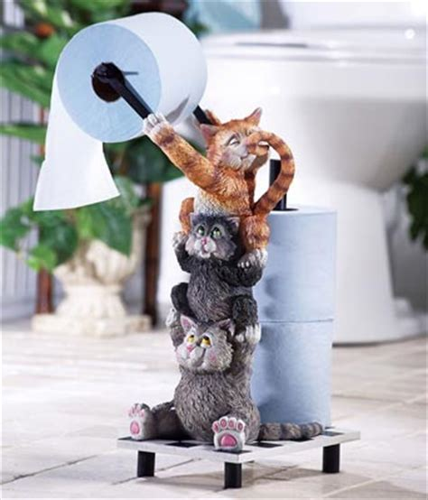 novelty toilet paper holder climbing cats novelty toilet paper holder from collections