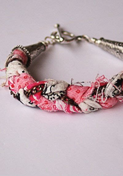reuse gold to make new jewelry diy fabric scrap bracelets recycle your fabric