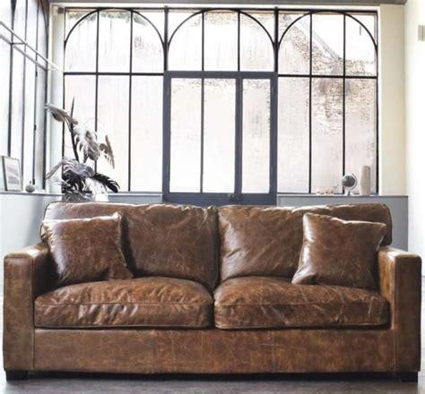weathered leather sofa distressed leather sofa weathered