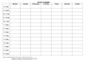 Student Weekly Planner Template Gallery For Gt Weekly Study Planner Printable