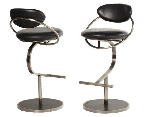 leather and chrome bar stools leather chrome bar stools chairs and sofas as art