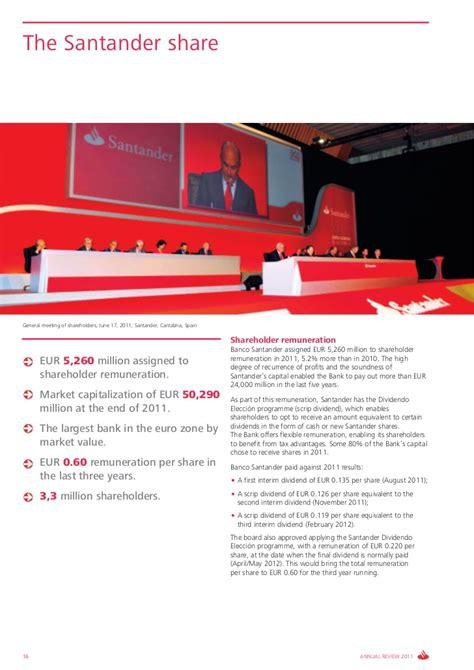 dantander bank santander bank annual report 2011 annual review 2011