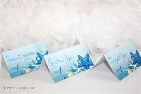 A Sea Of Placecards 17 best images about starfish place cards starfish