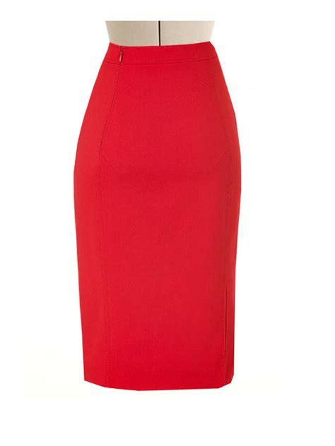 Pencil Skirt pencil skirt with side split custom fit handmade