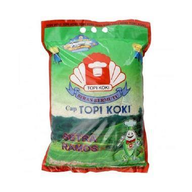 Topi Koki Setra Ramos Beras 20 Kg jual beras topi koki harga murah blibli