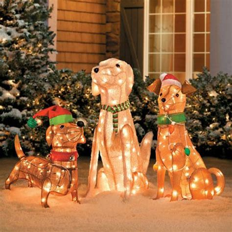 34 pre lit golden retriever christmas lawn ornament pretty dogs labradors and dachshund on