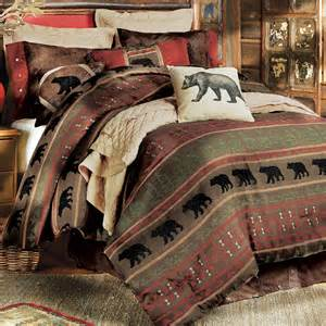 Rustic Comforter Set Rustic Bedding King Size Gallatin Bear Bed Set Black