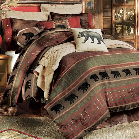 rustic bedding king size gallatin bear bed set black