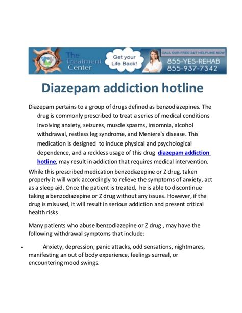 Valium Dosage For Detox by Diazepam Addiction Hotline