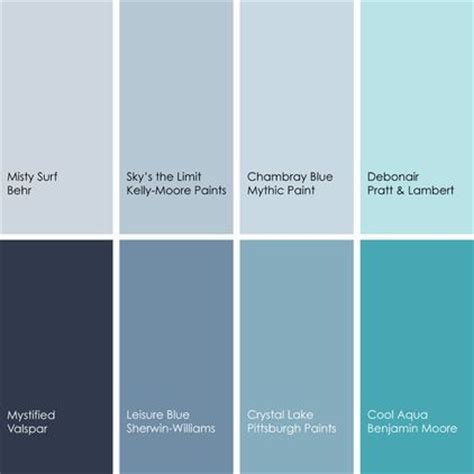 blue paint picks for dining rooms clockwise from top left 1 surf 740e 2 behr 2 sky s