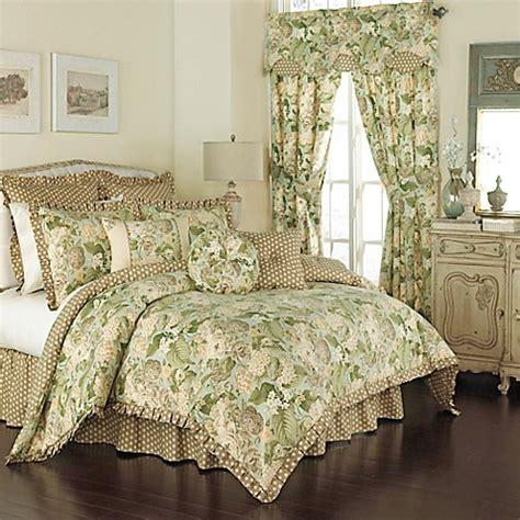 bedding waverly waverly 174 garden reversible comforter set in mist bed bath beyond
