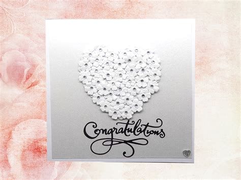 Handmade Wedding Cards Uk - congratulations handmade wedding card handmade cards