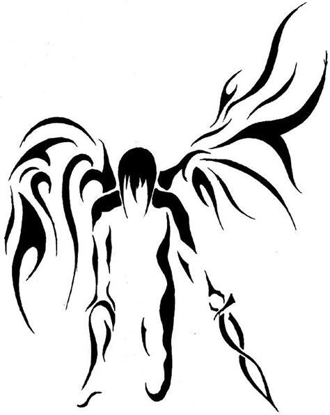 tribal angel tattoo designs 37 best tribal tattoos images on tribal