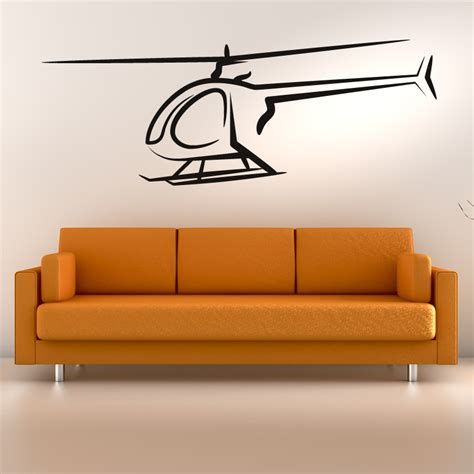 helicopter wall stickers helicopter outline outline wall sticker wall decal