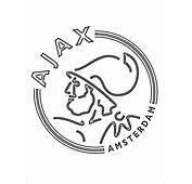 Kleurplaat Met AFC Ajax Logo  Gratis Kleurplaten