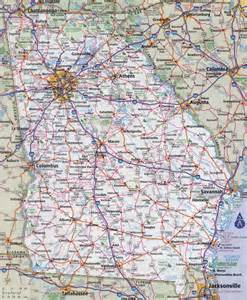 Georgia Map State by Large Detailed Roads And Highways Map Of Georgia State