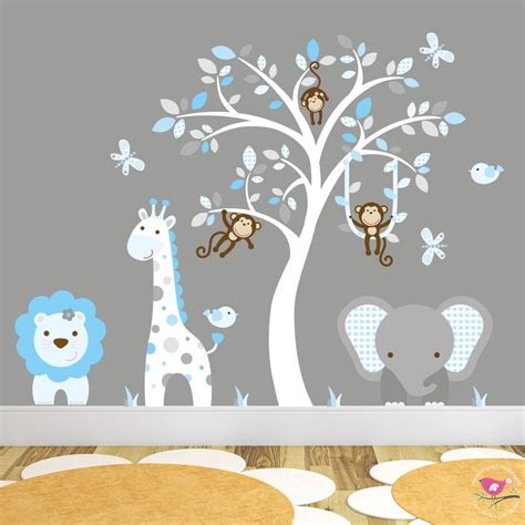 safari home decor wildlife elephant family parade across 100 wall decals giraffe animals jungle amazon com wild