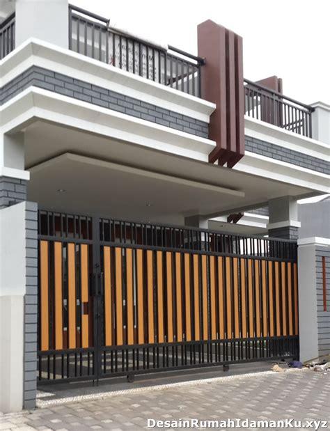 foto desain pagar minimalis contoh model pagar rumah minimalis desain rumah