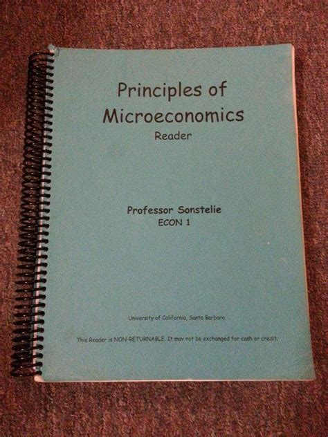 principles of microeconomics books principles of microeconomics reader gaucho books