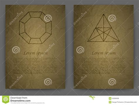 Alchemy How To Make Paper - vector illustration card a4 realistic paper signs of