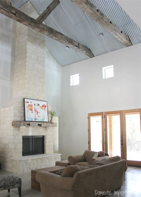 a corrugated metal ceiling domestic imperfection