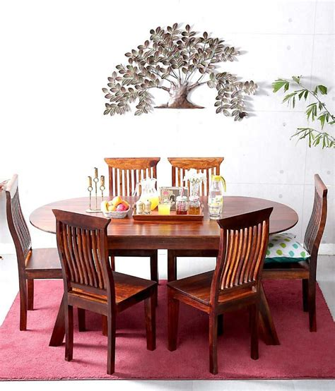 Ethnic India Madrid 6 Seater Sheesham Wood Dining Set With Table Buy Ethnic India Ethnic India Sheesham Wood 6 Seater Dining Set Buy Ethnic India Sheesham Wood 6 Seater