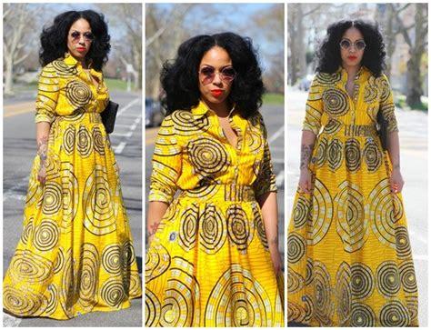 desa kitenge max skirt and matching button down shirt