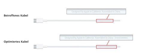 apple zubehör apple austauschprogramm f 195 188 r ladekabel