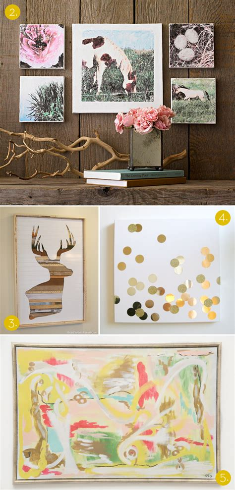 wall diy projects roundup 10 affordable diy modern wall projects