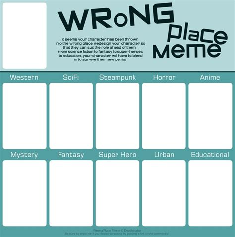 Deviantart Meme - wrong place meme blank by deathinator on deviantart