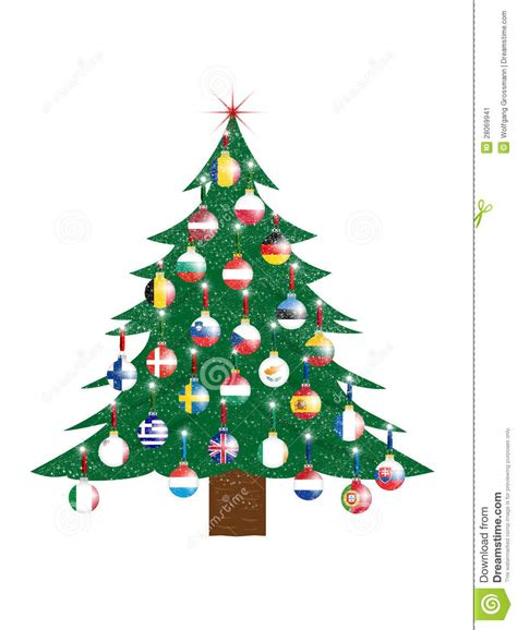 christmas tree european union stock image image 28069941
