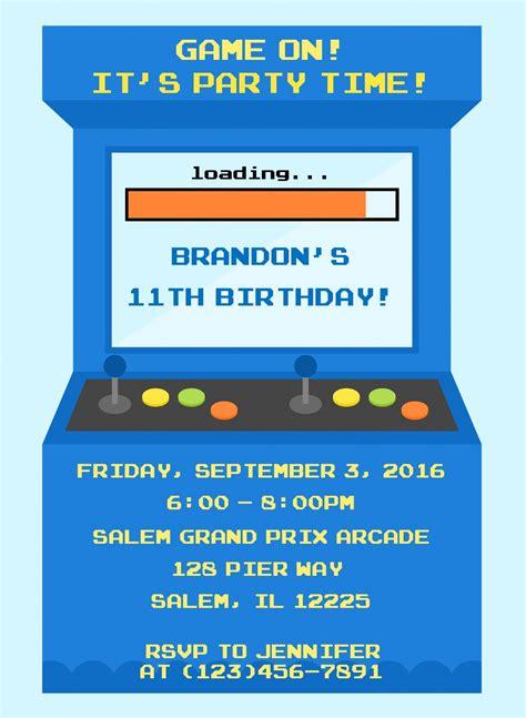 American Ninja Warrior Birthday Invitation Sweetdesignsbyregan Arcade Website Template