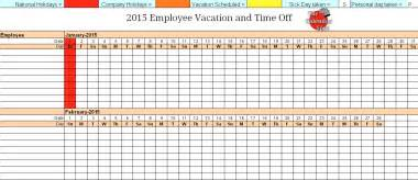 employee vacation planner template best photos of vacation calendar template vacation