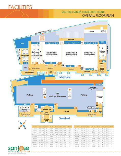 san jose convention center floor plan north valley jrs volleyball club venues and directions