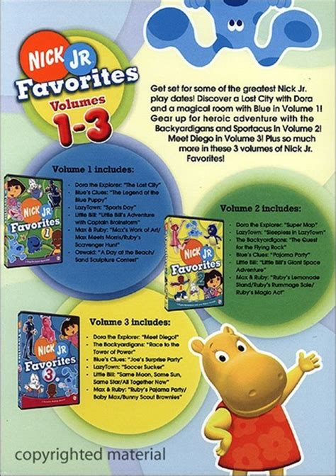 Favorites Book 3 nick jr favorites box set dvd 2006 dvd empire