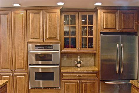 Wood Stain Kitchen Cabinets by Kitchen Cabinets Maple Wood With Coffee Brown Stain
