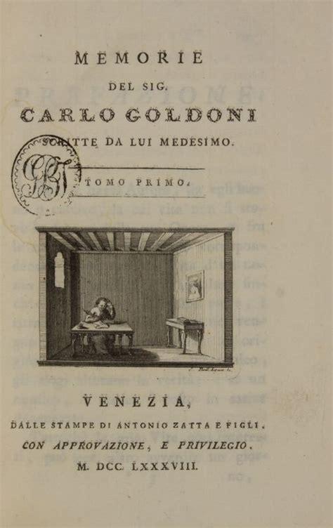 libreria goldoni venezia orari goldoni carlo opere teatrali con rami allusivi