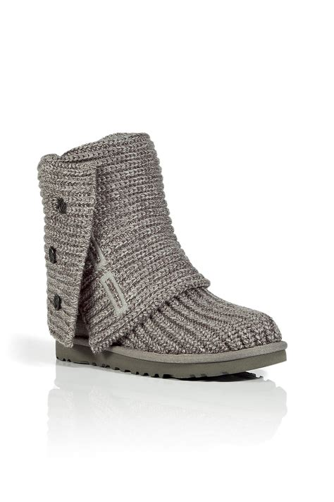 ugg cardy boots ugg grey classic cardy boots in gray grey lyst