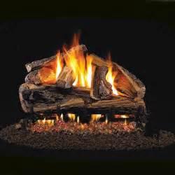 Gas Logs 30 Peterson Real Fyre Vented Rugged Split Oak Gas Logs