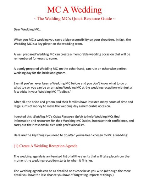 wedding mc template wedding mc template 28 images wedding emcee publicity
