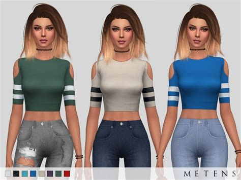 sims 4 custom content top sims 4 downloads the sims resource alisia top by metens sims 4 downloads