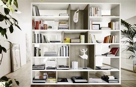 librerie divisorie bifacciali mobile libreria bifacciale ciuffo arredo design