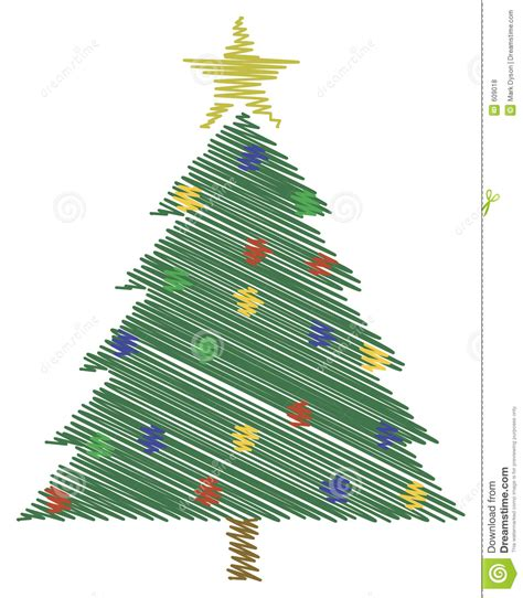 scribble christmas tree royalty free stock photos image