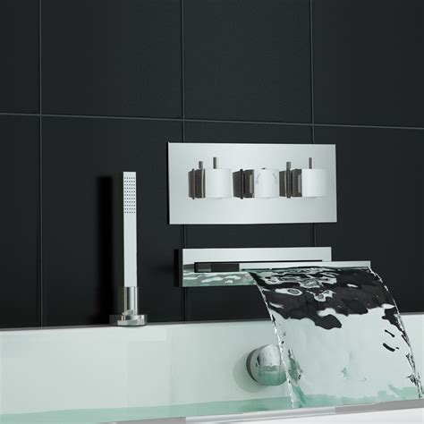 waterfall bath taps with shower concealed thermostatic shower mixer tap waterfall bath