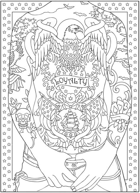 nouveau designs coloring pages