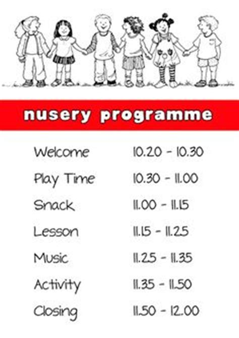 Church Nursery Signs Thenurseries Church Nursery Schedule Template
