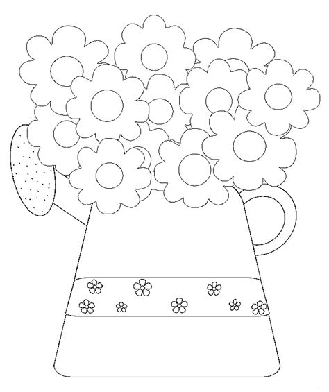 coloring page of flower pot valentine flower pot free colouring pages