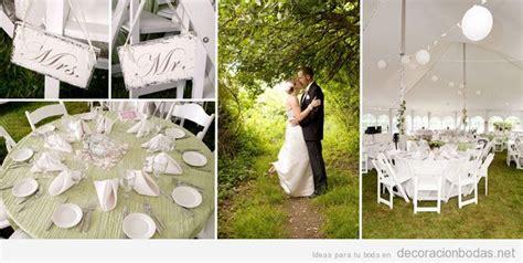 decorar jardines en blanco decoraci 243 n en blanco de bodas en jard 237 n con carpa